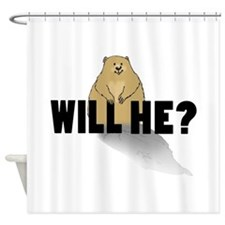 Will He? Shower Curtain