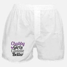 Chubby Girls Cuddle Better - Cursive Boxer Shorts