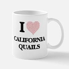 I love California Quails (Heart Made from Wor Mugs