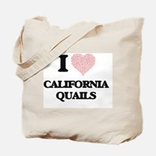 I love California Quails (Heart Made from Tote Bag