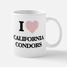 I love California Condors (Heart Made from Wo Mugs