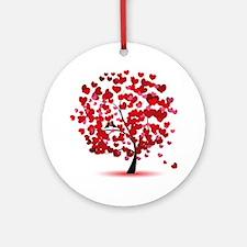 Love tree Round Ornament