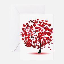 Love tree Greeting Cards