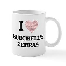 I love Burchell's Zebras (Heart Made from Wor Mugs