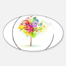 Colourful psy flowers Decal