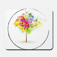 Colourful psy flowers Mousepad