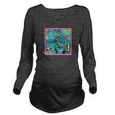Otters Long Sleeve Maternity T-Shirt
