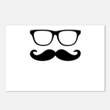 Glasses Mustache Postcards (Package of 8)