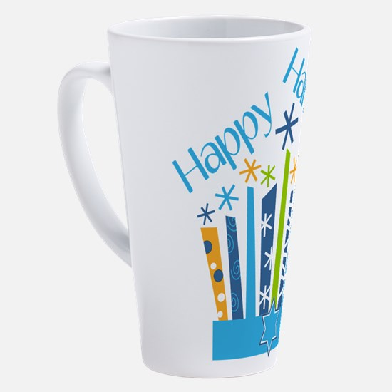 Cute Happy holidays 17 oz Latte Mug