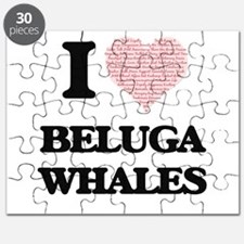 I love Beluga Whales (Heart Made from Words Puzzle
