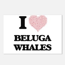 I love Beluga Whales (Hea Postcards (Package of 8)
