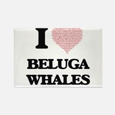 I love Beluga Whales (Heart Made from Word Magnets