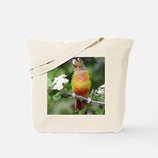 Cool Green cheek conure Tote Bag