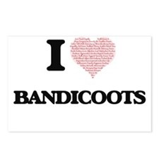 I love Bandicoots (Heart Postcards (Package of 8)