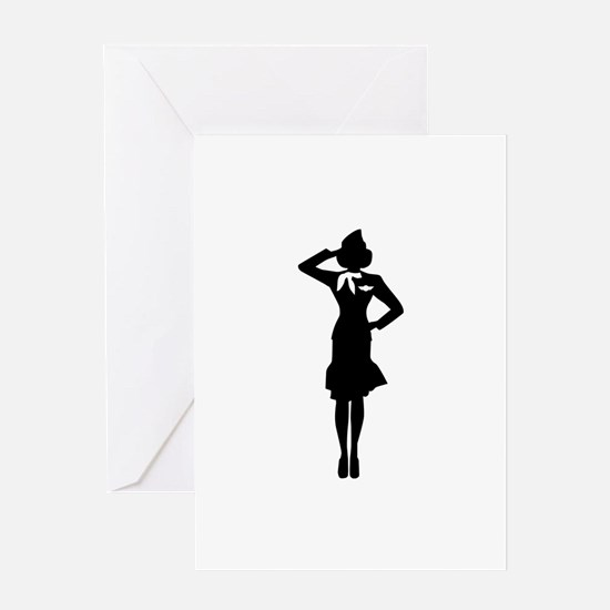 Stewardess Greeting Card