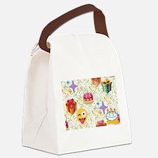happy birthday emoji Canvas Lunch Bag