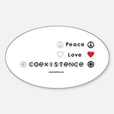 Peace Love Coexist Oval Decal