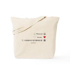 Peace Love Coexist Tote Bag