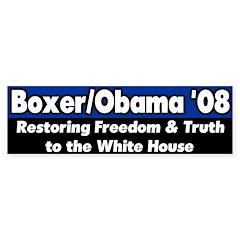 Boxer Obama '08 bumper sticker
