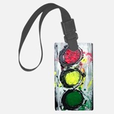 Funny Red abstract art Luggage Tag