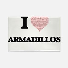 I love Armadillos (Heart Made from Words) Magnets