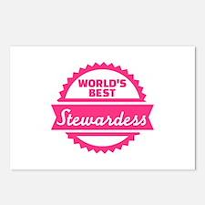 World's best Stewardess Postcards (Package of 8)