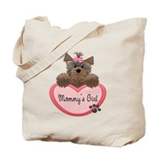Mommy's Girl Yorkie Heart Tote Bag