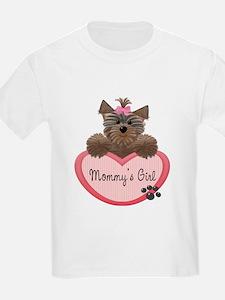 Mommy's Girl Yorkie Heart T-Shirt