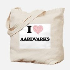 I love Aardvarks (Heart Made from Words) Tote Bag