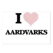 I love Aardvarks (Heart M Postcards (Package of 8)