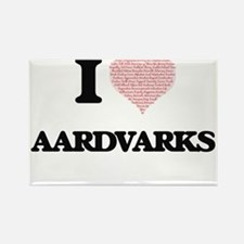 I love Aardvarks (Heart Made from Words) Magnets