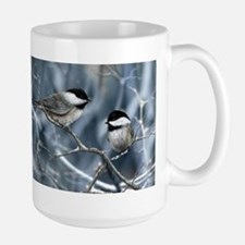 chickadee birds Mugs