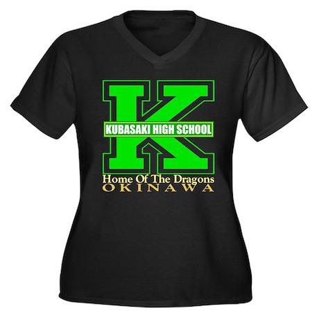 Big K Women's Plus Size V-Neck Dark T-Shirt