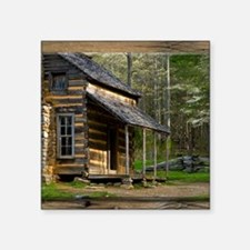 Cabin on Wood Sticker