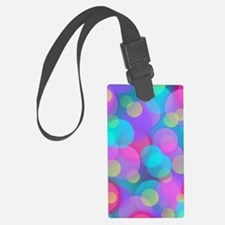 Green and pink Luggage Tag