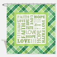 1 CORINTHIANS 13:13 Shower Curtain