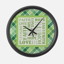1 CORINTHIANS 13:13 Large Wall Clock