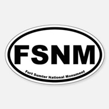 Fort Sumter National Monument Oval Decal