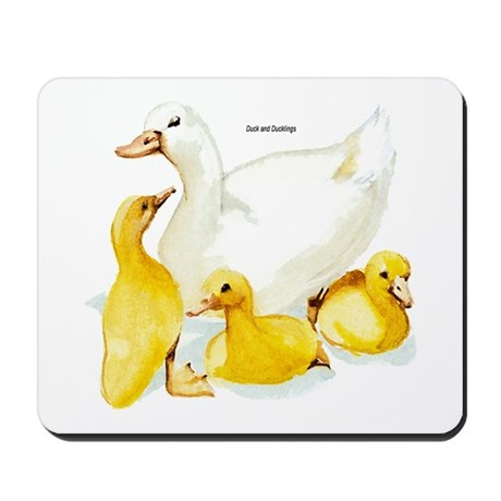 Duck and Ducklings Mousepad