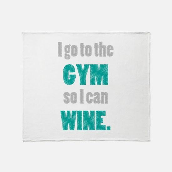 Cute Gym Throw Blanket