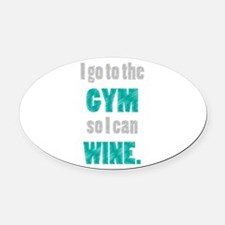 Funny Wine Oval Car Magnet