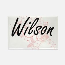 Wilson surname artistic design with Butter Magnets