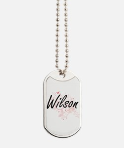 Wilson surname artistic design with Butte Dog Tags