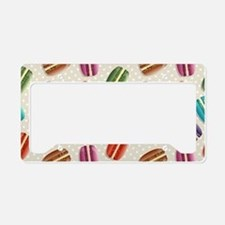 Rainbow French Macaron Cookie License Plate Holder