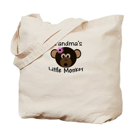 Grandma's Little GIRL Monkey Tote Bag