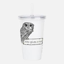 Hoot Owl Acrylic Double-wall Tumbler