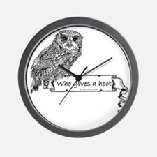 Hoot Owl Wall Clock