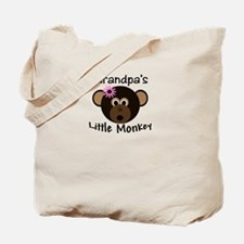 Grandpa's Little GIRL Monkey Tote Bag