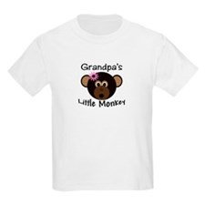 Grandpa's Little GIRL Monkey T-Shirt