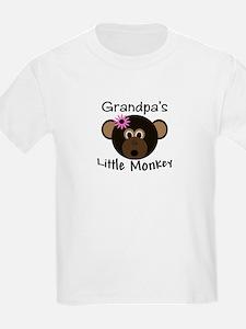 Grandpa's Little GIRL Monkey T-Shirt